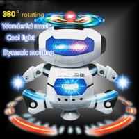 china iluminação led direta venda por atacado-Brinquedos elétricos Dança Rotating Robô com luzes LED Música Explosão Toy Inteligência com a pilhas China grosso diretos
