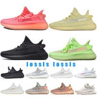 Wholesale big size sneakers resale online - Big Size Antlia Pink Static Reflective V2 Men Running Shoes True Form Clay Kanye West Women Sport Sneakers Designer Trainers Shoe