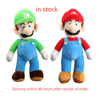 Wholesale start toys resale online - Luigi Mario And Luigi Soft Doll Plush Toy For Kids Christmas Halloween Best Gifts CM