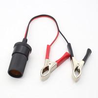 adaptador de cabo da bateria venda por atacado-New Car Bomba Battery Charger Clipe Terminal Cabo Clip-on isqueiro soquete de energia Adaptador de 12V Sockets