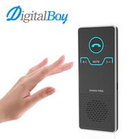 kit manos libres de visor bluetooth al por mayor-Digitalboy Bluetooth Car Kit Manos Libres Inalámbricas Llamada sin Sol Visera Manos Libres Altavoz Altavoz Car Audio Reproductor de MP3 para Teléfono