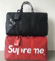 grandes sacos de bagagem de couro venda por atacado-45 CM homens mochila mulheres sacos de viagem bagagem de mão designer de luxo saco de viagem homens pu bolsas de couro grande saco de corpo cruz totes