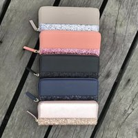 Wholesale k wallet for sale - Group buy Women KS Wallet Glittler PU Leather Bags Fashion Zipper Handbags Lady Travel Phone Card Tote Purse Mother Day Gifts party pouch saleC42201