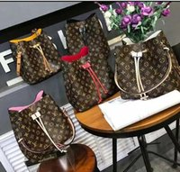 bolsa de bádminton blanco al por mayor-2019 Leather Designer Lux Handbags Monederos L Letter NEVERFULL Handbag White Printing Purse Womens Designer Bag 26 * 25 * 18.5
