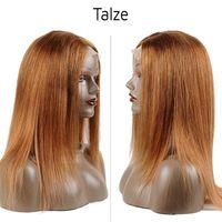 hint remy sarışın toptan satış-Altın Sarışın Dantel Peruk 30 Renkli Dantel Ön İnsan Saç Peruk Siyah Kadın Hint Düz Remy Saç Peruk Için