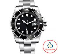 logotipo de marca de relógio de luxo venda por atacado-relógio homens suíços Ceramic marca de luxo Bezel Mens Mecânica Aço Inoxidável Automatic superior S relógios de luxo luxe montres de com o logotipo brnad