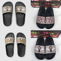 ingrosso pantofola degli uomini di modo-new fashion Uomo Donna designer diapositive Scarpe Estive Piatte Sandali Scivoloso Slipper Infradito Flip Flop TAGLIA 35-45