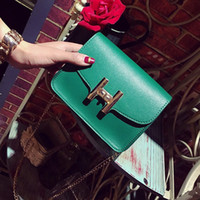 Wholesale time chains for sale - Group buy Free2019 Oblique Chain Satchel Small Square Leisure Time Joker Single Shoulder H Lock Catch Woman Ma am Package