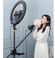 Wholesale inch big cell phones resale online - 18 inch Ring Light with Tripod Stand for YouTube Video and Makeup big LED Camera Light with Cell Phone Holder Free DHL shipping