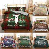 Wholesale 3d bedding sets king for sale - Group buy Merry Christmas Bedding Cover d Printed Deer And Santa Claus Duvet Cover Set With Pillowcase Microfiber Bedclothes