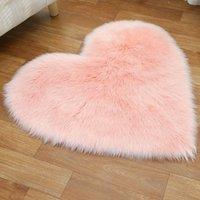tapete de amor venda por atacado-Plush Amor Tecido Tapetes coração cobertor macio sofá almofada Sala Quarto Tapetes Decoração 25 cores HHA1119