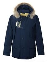 wolle parka männer großhandel-Mode Wolle reichen Herren Arctic Anorak Daunenjacken Mann Winter Gänsedaunenjacke 90% Outdoor Thick Parka Mantel warme Oberbekleidung