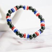 nationale diy großhandel-Handbuch A Von Hand String Originalität Diy Magnetische Perlen Armband Ebay Bestseller Nationalflagge Schmuck Multinational Optional