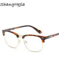 Wholesale tom glasses resale online - 2019 New Clear Glasses Women Classic Optics Eyeglasses Men Spectacle FrameTransparent Lens Optical Aviation Glass for TOM