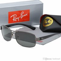 Wholesale vintage round sun glasses for sale - Group buy Fashion Active Sunglasses Vintage Ray Men Women Brand Designers Gunmetal Frame Band Sun Glasses Bans a with case
