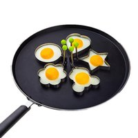 Wholesale stainless cook rings resale online - Stainless Steel Fried Egg Shaper Pancake Mould Mold Kitchen Cooking Tools Kitchen Fried Egg Shaper Ring Pancake Mould Style WX9