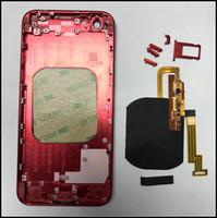 flex house venda por atacado-Faça o seu iPhone 6G 6 S 6 P 6 SP 7 7 P Como o iPhone 8 Vidro De Volta Habitação com Construído em Carregador Sem Fio Flex