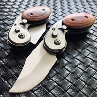 Wholesale New high quality mini Tactical Folding Knife c Blade Wood Handle Outdoor EDC Pocket Knives With