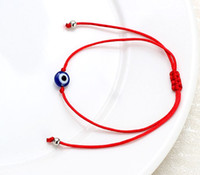 ingrosso fascino fortunato di stringa rossa-Lucky Eye Blue Evil Eye Charms Bracciale Red String Thread Rope Bracciale per donna Uomo Evil Eye Jewelry Gifts