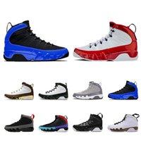 retros 13 al por mayor-nike air jordan retro Moda 9 Zapatillas de baloncesto para hombres 9s UNC LA Bred Space Jam Tour azul negro Zapatillas de deporte antracita Zapatillas tamaño 7-13