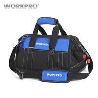 ücretsiz taban çantası toptan satış-Workpro Yeni Alet Çantaları Su Geçirmez Seyahat Çantaları Erkekler Crossbody Çanta Aracı Saklama Torbaları Su Geçirmez Tabanı Ile Ücretsiz Kargo T8190615