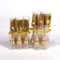 cartuchos 1ml venda por atacado-10pcs .5ml 1ml 510 fio da bobina de cerâmica de vidro TH205 cartucho TH210 vape com ouro ponta de cerâmica Para o óleo viscoso espesso CO2