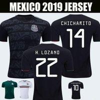 camisetas de fútbol v al por mayor-2019 Copa Oro México camisetas de fútbol blackout H. LOZANO G. DOS SANTOS VELA CHICHARITO Camisetas de fútbol GUARDADO JIMENEZ MARQUEZ CARVOS V. RAUL