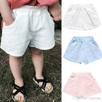 Wholesale boot lace covers resale online - Newest INS Solid Boys Shorts children PP Pants Cotton Pocket PP Trousers Diaper Cover Bloomer For Kids Boys T