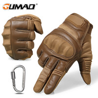 Wholesale finger knuckles resale online - Touch Screen Hard Knuckle Tactical Gloves Army Military Combat Airsoft Outdoor Climbing Shooting Paintball Full Finger Glove