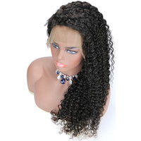 Wholesale jerry lace wig resale online - Jerry Curly Lace Front Wig Brazilian Virgin Human Hair Full Lace Wigs for Women Natural Color
