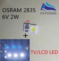 8mm chapeau en paille blanc achat en gros de-1000pcs OSRAM Rétro-éclairage LED Haute Puissance LED 1.5W 6V 1210 3528 2835 131LM Rétro-éclairage LCD blanc pour TV Application TV