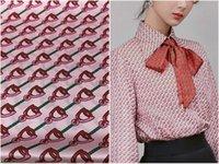 стрейч-атласные рубашки оптовых-Ткань эластик Тяжелая шелковая ткань Марка Розовая Лошадь С принтом в виде рубашки Шелкопряд Шелковая эластичная ткань для дизайна одежды