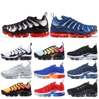 Wholesale outdoors for sale - 2019 TN PLUS Running Shoes For Men Women Black Speed Red White Anthracite Ultra White Black Best Designer Sneakers