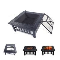 Wholesale fire burning resale online - Wood Burning Fire Pit Outdoor Heater Backyard Patio Deck Stove Fireplace Table