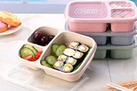 Wholesale bento tools resale online - New Natural Material Lunch Bento Box Food Heated Thermos Container For Children Adults Kid Kitchen Dining Tools