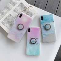 ingrosso supporto in metallo cake-Custodia morbida in TPU fiore + Anello in metallo con 360 gradi per Iphone XS MAX XR X XS 8 7 6 Custodia Bling Star Glitter Ocean Sea Luxury Cover