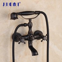 Wholesale ceramic telephones for sale - Group buy ORB Solid Brass Telephone Shape Bathroom Shower Faucet Black Wall Mounted Bathroom Bathtub Mix Tap Faucet