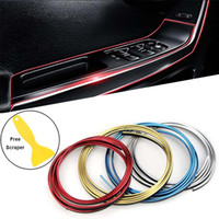 Wholesale honda decorations accessories for sale - Group buy UNIVERSAL M CAR DIY Moulding Trim Interior Exterior Dashboard Edge Protection Decoration Strip Line Chrome Styling Accessories Meters
