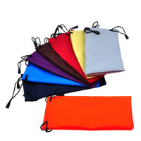 Wholesale sunglasses packs online - Fashion Waterproof Sunglasses Drawstring Bags Candy Color Eyeglasses Drawstring Bag Soft Glasses Case Holder Eyewear Accessories TTA632