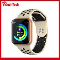 ingrosso trasporto libero del bluetooth del monitor del cuore-orologio F8 intelligente con cardiofrequenzimetro intelligente braccialetto impermeabile IP67 Bluetooth Fitness Tracker per il trasporto libero del telefono