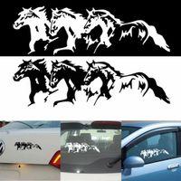 white horse autocollants achat en gros de-Autocollant de décalque de fenêtre de voiture de 3PCS chevaux pour la moto