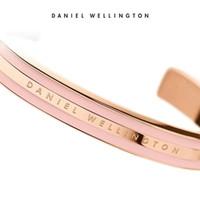 brazaletes de oro blanco para las mujeres al por mayor-Rose Gold Wide DW Bracelets 100% Titanium Steel Cuff With Pink Grey White Red Stripe Bangle para mujeres hombres