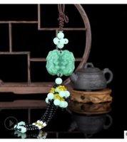 ingrosso raccordo in pietra di gemma-Ciondolo doppia faccia mitico animale selvatico sicurezza pendente vera gemma jaspergem catena di gioielli in pietra