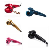 tubos para cabelos elétricos venda por atacado-Drop Ship ePack Tela LCD Cabelo automática encrespador Curling Iron aquecedor de cerâmica ferramenta Styling Onda Magia Curling Iron cabelo Styler atendimento para as mulheres
