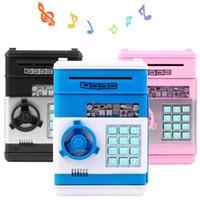 banka para kasası toptan satış-Yeni Kumbara Mini ATM Para Kutusu Güvenlik Elektronik Şifre Çiğneme Para Nakit Depozito Makinesi Hediye Çocuklar Çocuklar için noel hediyeler
