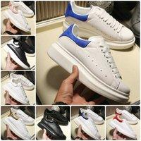 rahat spor ayakkabıları kızlar toptan satış-2019 Tasarımcı Erkek Kadın Ayakkabı Beyaz Deri Süet gündelik kız siyah altın rahat düz moda spor ayakkabısı Platformu boyutu kırmızı 36-44