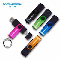 mémoire flash usb 128 achat en gros de-NOUVELLE arrivée Moweek Multifonctionnel Clé USB 128 Go 64 Go clé USB 32 Go Pendrive 16 Go 8 Go 4 Go USB 2.0 Memory Stick pour Android