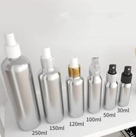alüminyum parfüm toptan satış-Sprey Parfüm Şişesi Seyahat Doldurulabilir Boş Kozmetik Konteyner Parfüm Şişesi Atomizer Taşınabilir Alüminyum Şişeler Araba Spreyi GGA1921