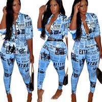 style de chemises de bureau achat en gros de-Ins Mode Bureau Dames Chemise Costume Journal Vintage Survêtement Designer Blazer Blouse et Crayon Pantalon Femmes Tenues Streetwear 3XL C71109