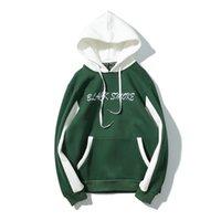 hoodies preppy achat en gros de-2019 concepteur d'hiver Hoodie Hip Hop High Street femmes et les hommes à capuche Sweats à capuche en molleton en vrac preppy Rechercher amant Pull gros